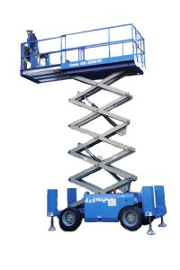 GS3268RT scissor lift hire Hampshire