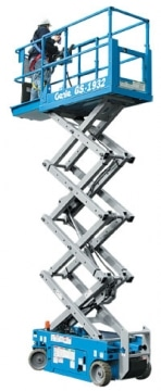 Genie GS1932 scissor lift hire Hampshire